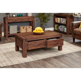 Alicante Walnut Four Drawer Coffee Table