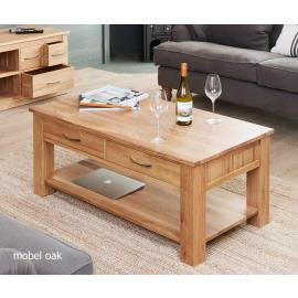 Valencia Light Oak Four Drawer Coffee Table